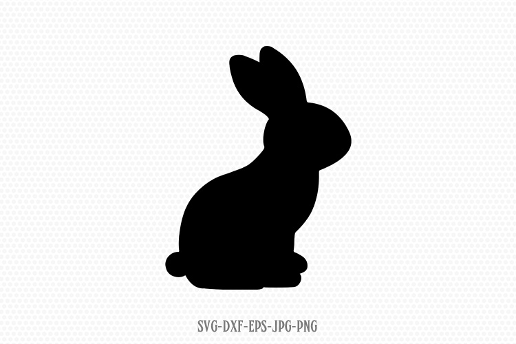 easter bunny rabbit silhouette svg.
