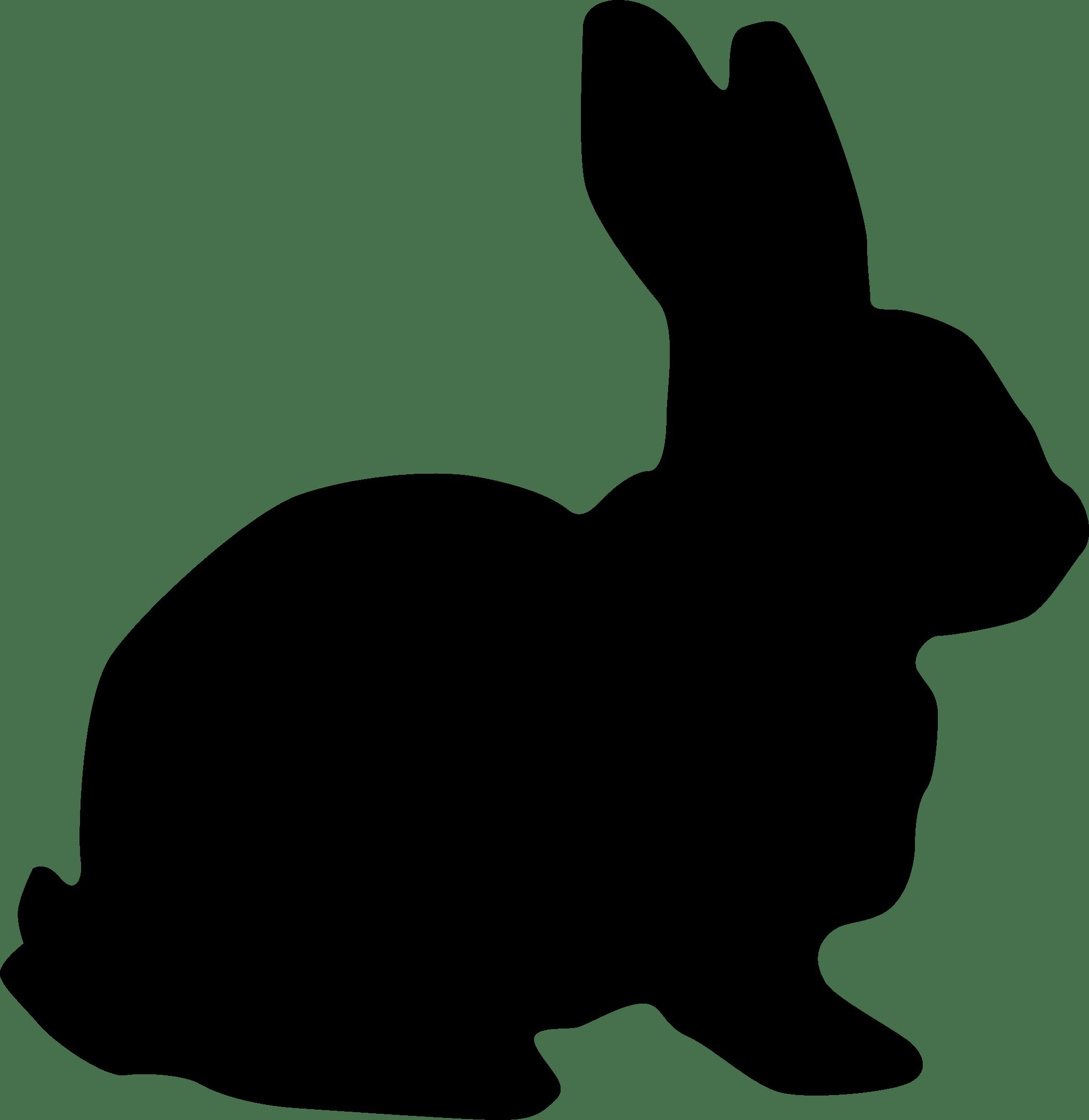 Rabbit Silhouette Transparent PNG Image #225.