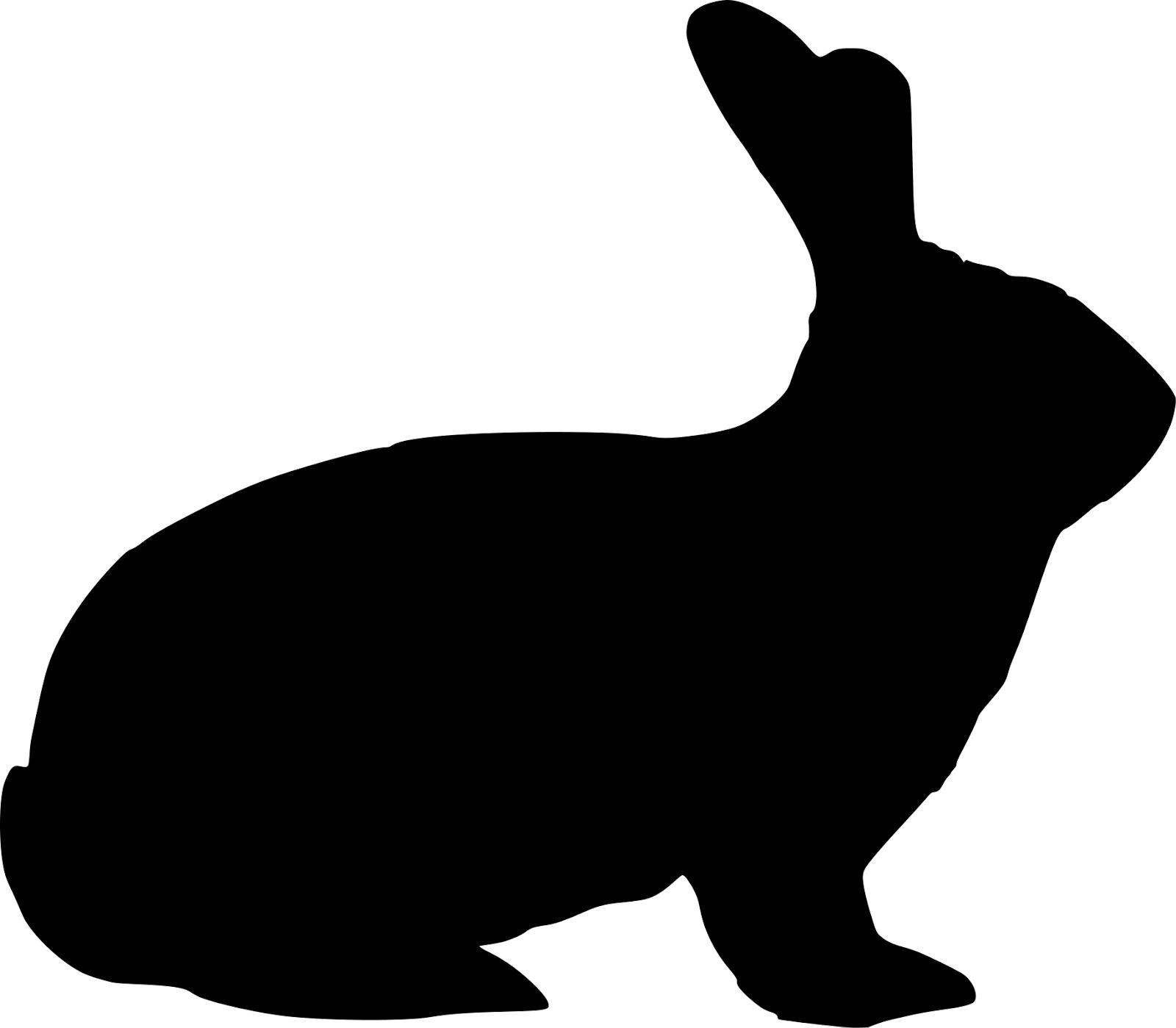 Easter Bunny Hare Rabbit Silhouette Clip art.