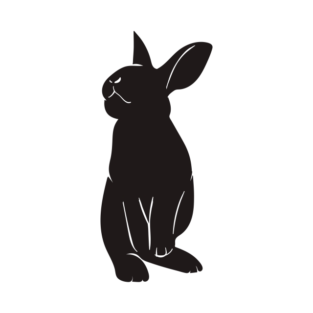 Rabbit And Bunny Silhouette Vector, Illustration, Spring, Bunny PNG.