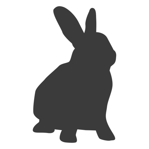 Rabbit muzzle bunny ear silhouette.