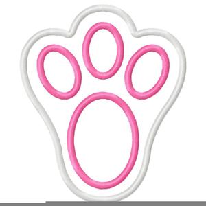 Free Clipart Bunny Footprints.