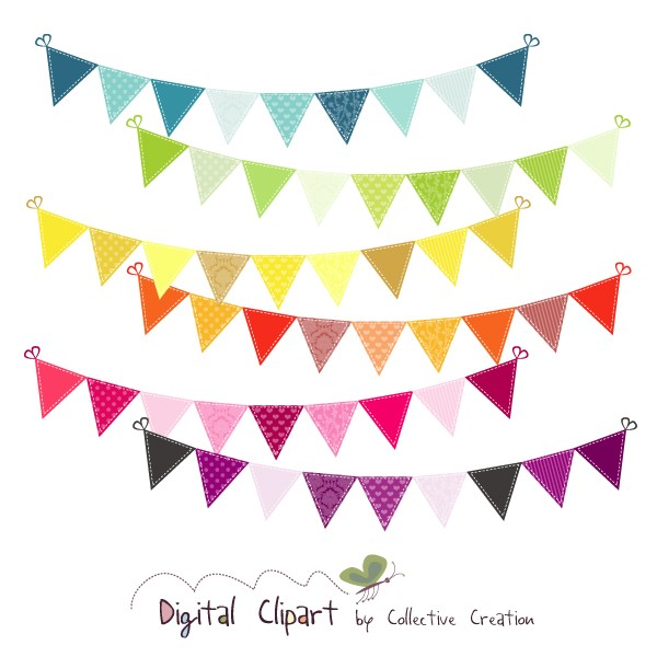 Bunting Clipart.