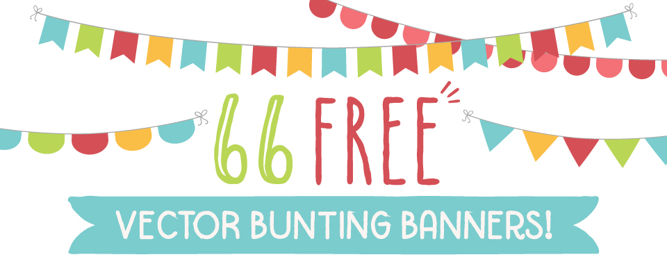 Free Vector Bunting Banners.