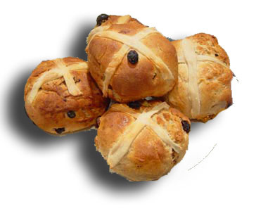Clipart hot cross buns.