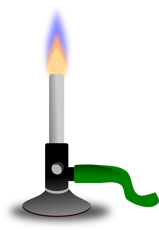 Bunsen burner clip art.