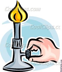 Bunsen burner Vector Clip art.
