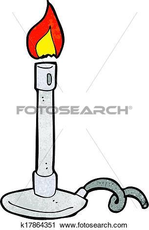 Clipart of cartoon bunsen burner k17864351.