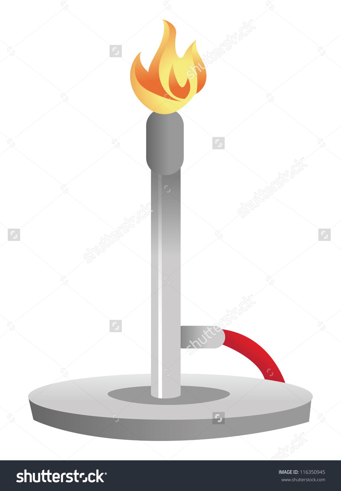 Cartoon Vector Illustration Bunsen Burner Stock Vector 116350945.