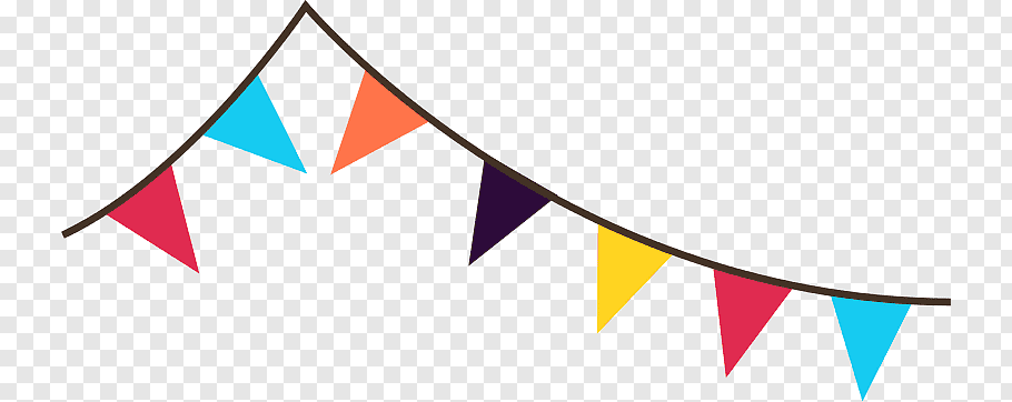 Multicolored flaglets illustration, Bunting Banner Pennon.