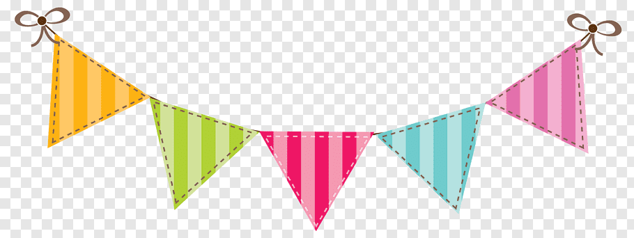 Multicolored bunting, Banner Flag Bunting Color, Birthday.