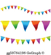 Bunting Flags Clip Art.