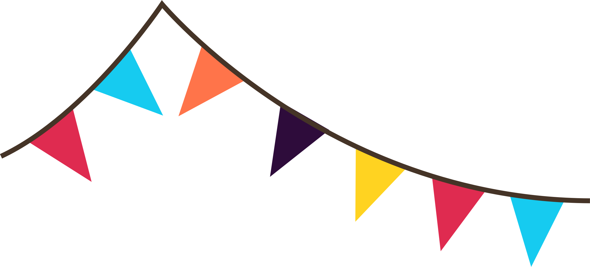 Bunting Banner Clip Art free image.