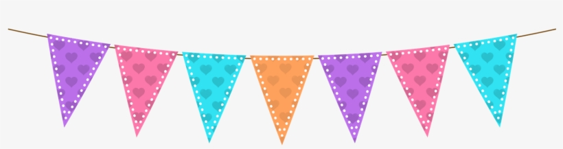 Bunting Clipart Transparent Background.