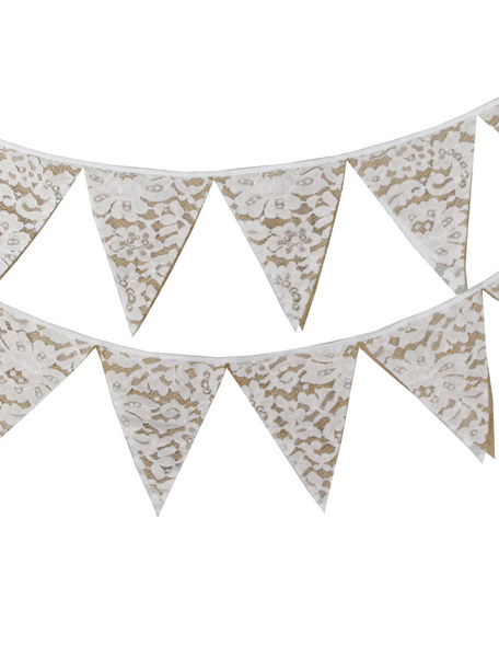 White Wedding decorazioni triangolo Bunting Banner flag Clipart.