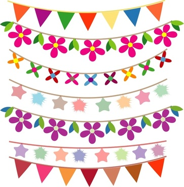 Bunting free vector download (13 Free vector) for commercial.