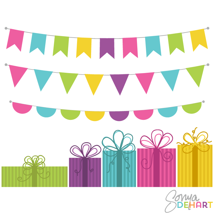 Free Bunting Banner Clip Art.