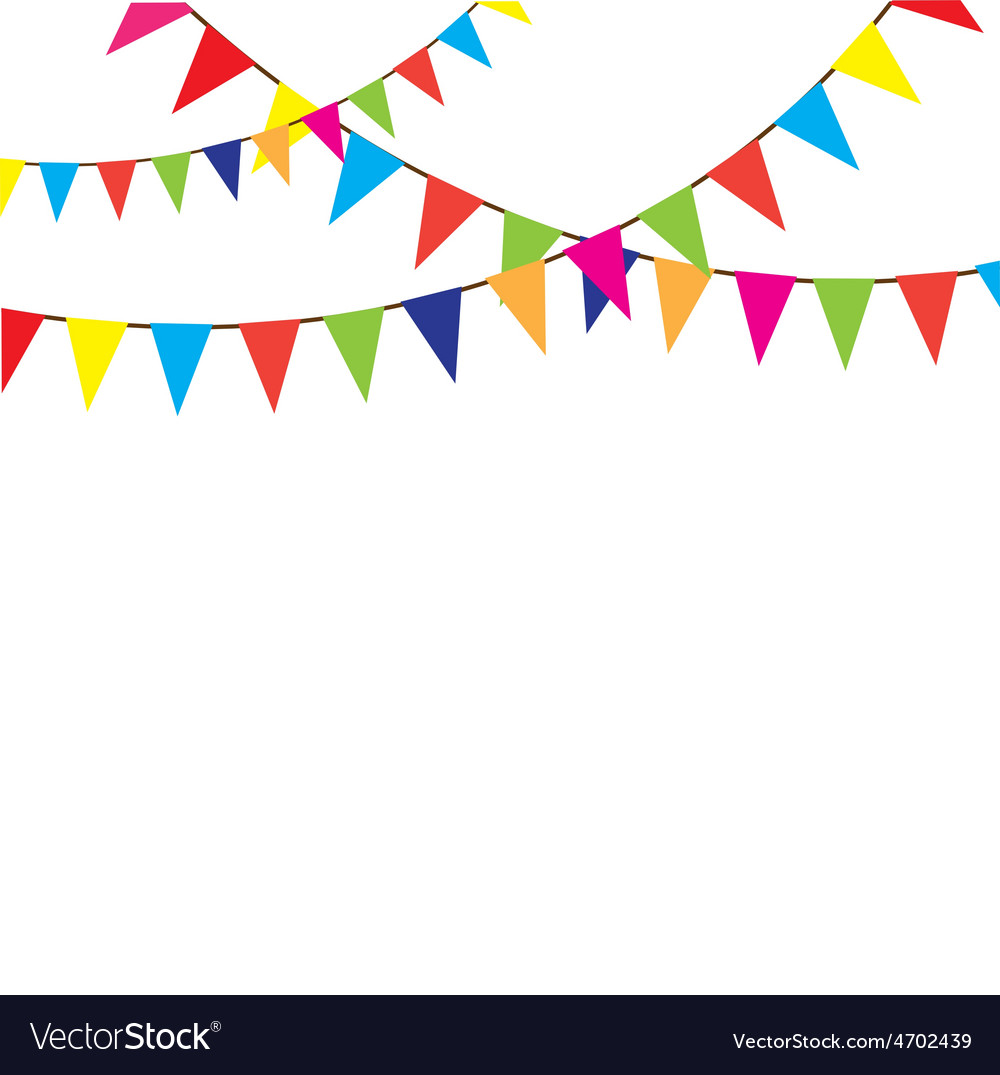 Bunting vector image.