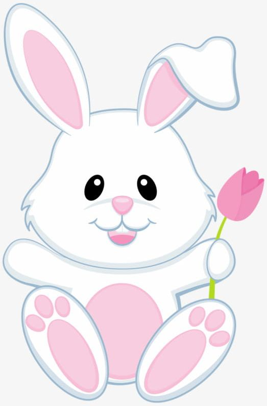 Small White Bunny PNG, Clipart, Animal, Bunny Clipart, Hand.