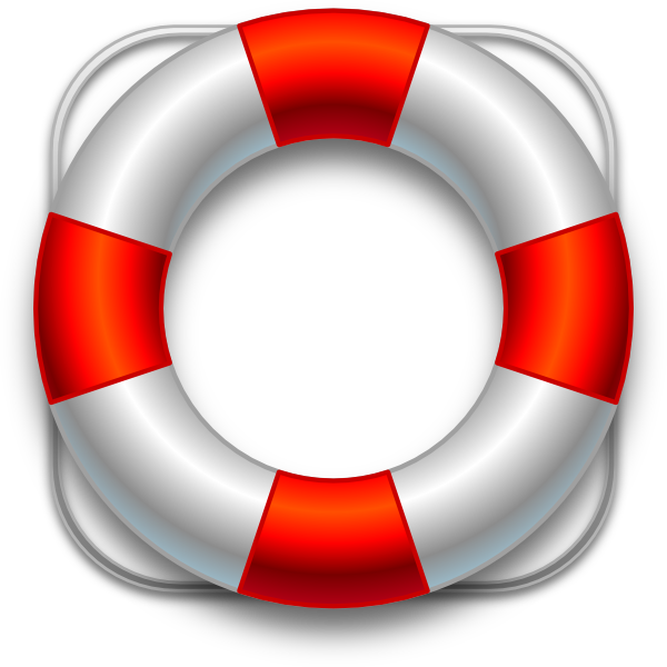 Lifeguard buoy clipart.