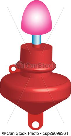 Clip Art Vector of Red marker buoy.