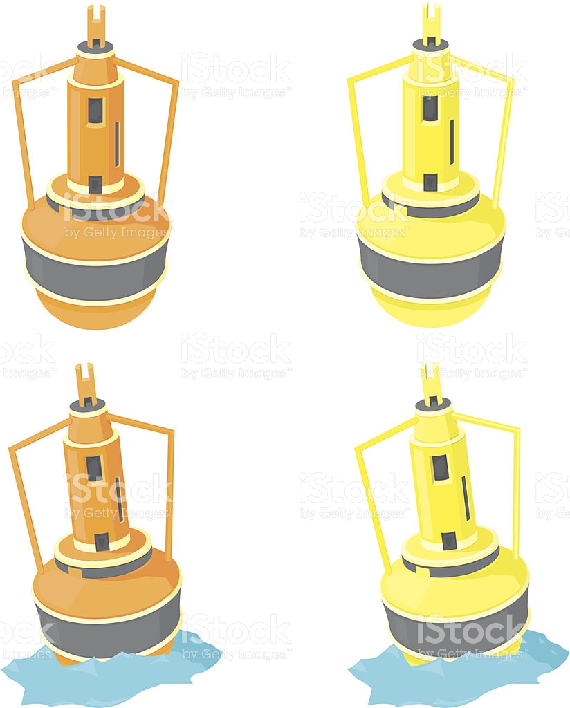 Nautical Buoy stock vector art 457932755.