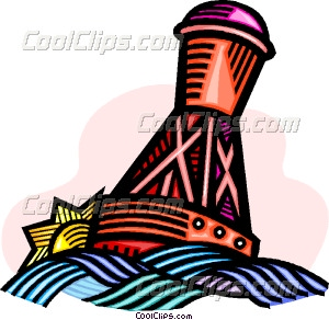 buoy on the water Vector Clip art.