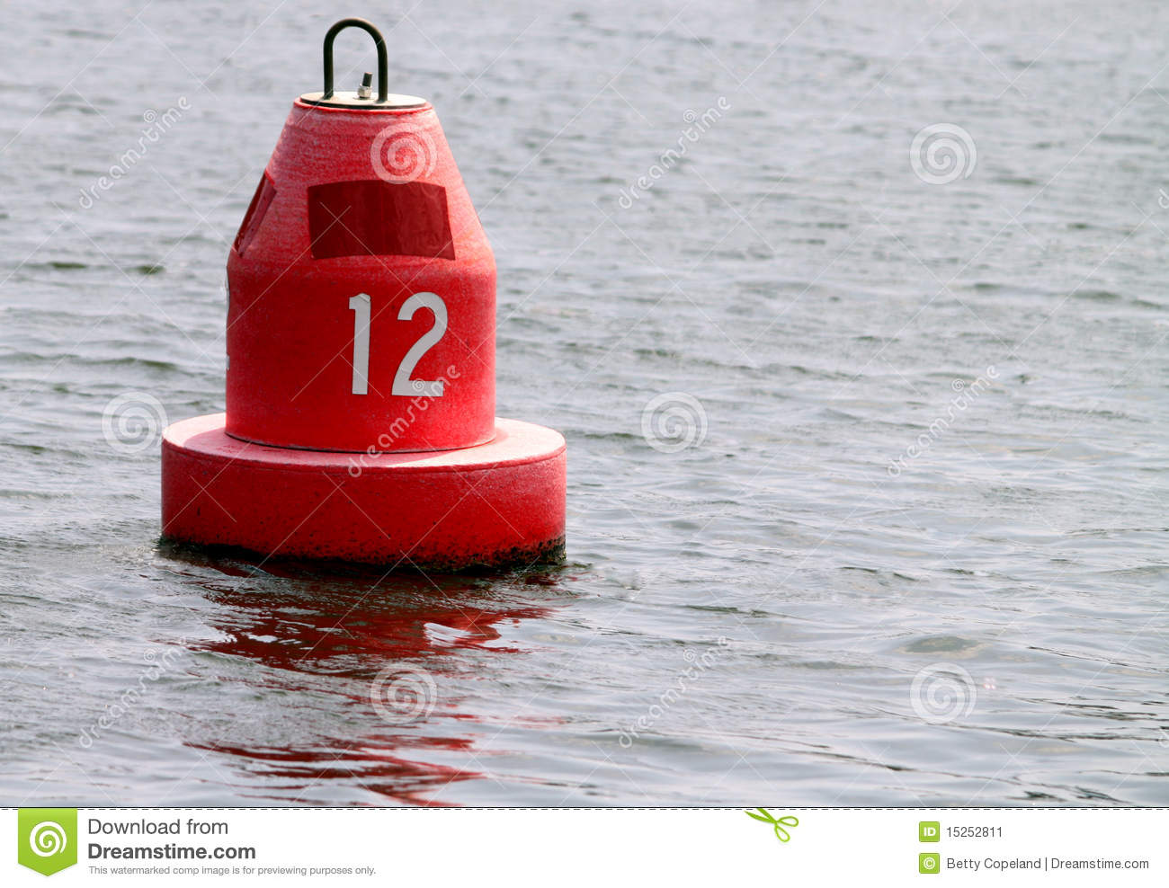 Red Marker Buoy Stock Image.