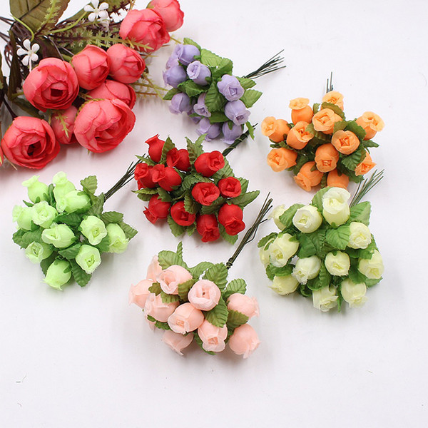 2019 100bouquets Wholesale Handmade Mini Silk Rose Bouquet Artificial  Flower Wedding Decoration DIY Wreath Clip Art Fake Flower Decoration From  Tmos,.