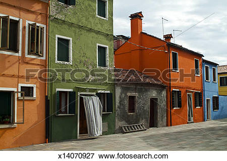 Picture of Quiet street along the canal, Burano x14070927.