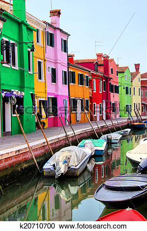 Stock Photography of Colorful Burano, Venice k20710700.