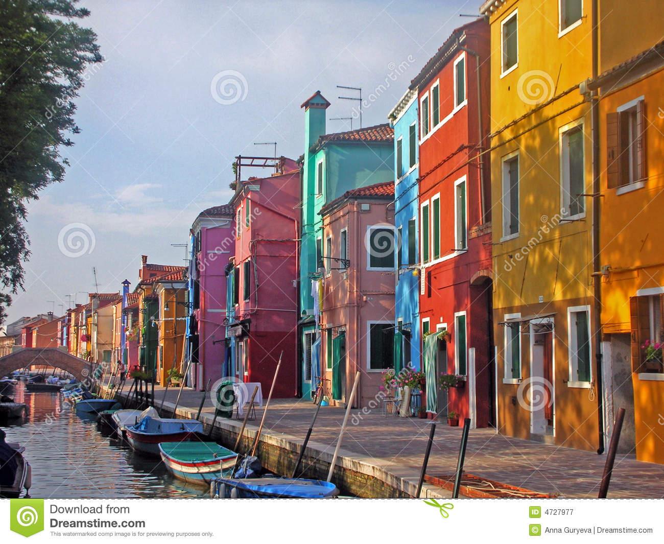 The Burano Island, Venice Royalty Free Stock Photography.