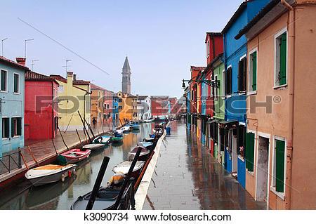Stock Photo of Italy, Venice: Burano Island k3090734.