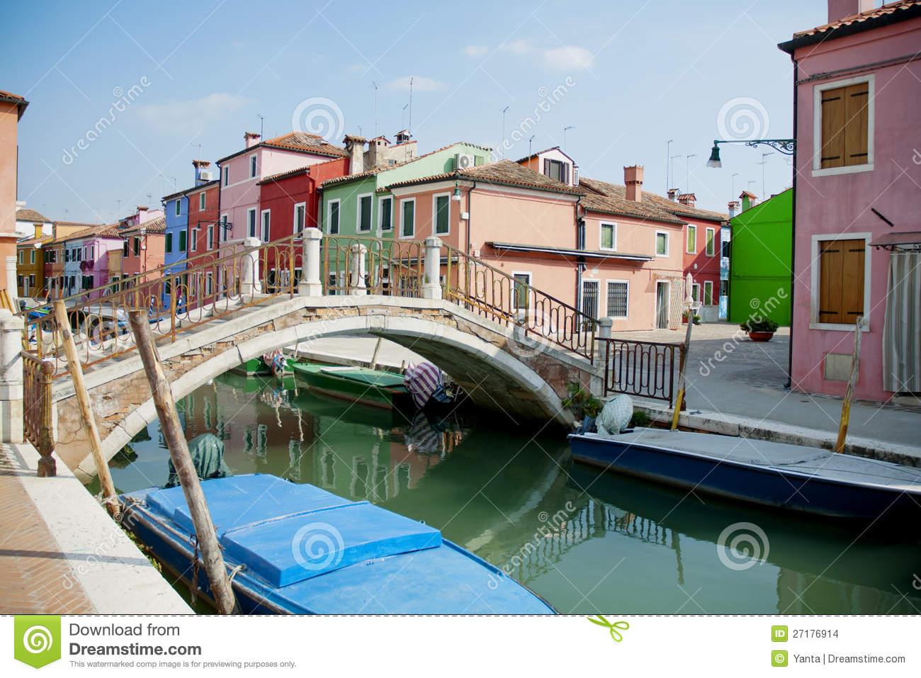 Burano Island, Venice, Italy Stock Images.