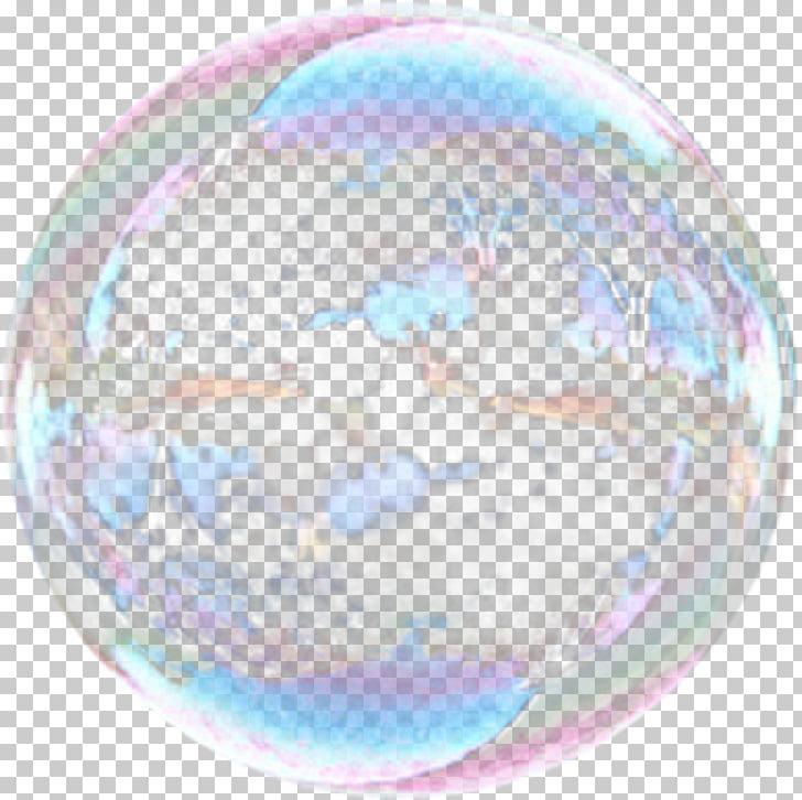 Burbuja iridiscente, esfera de pompas de jabón, pompas de.
