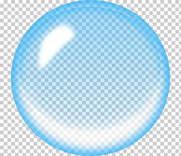 Burbuja de jabón azul, burbuja de agua, burbuja azul PNG.