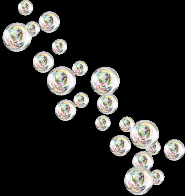 Burbujas de Jabón PNG transparente.
