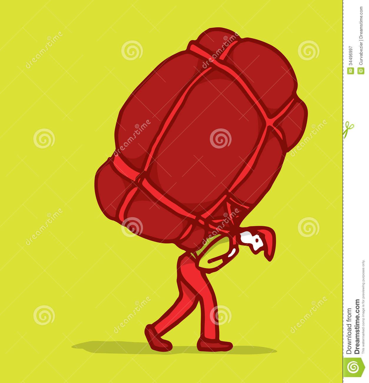 Carrying burden clipart.