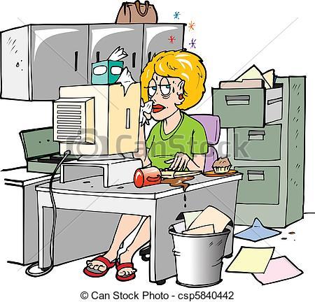 Clipart bureau travail.