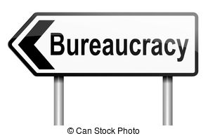 Stock Illustrations of Bureaucracy background concept.