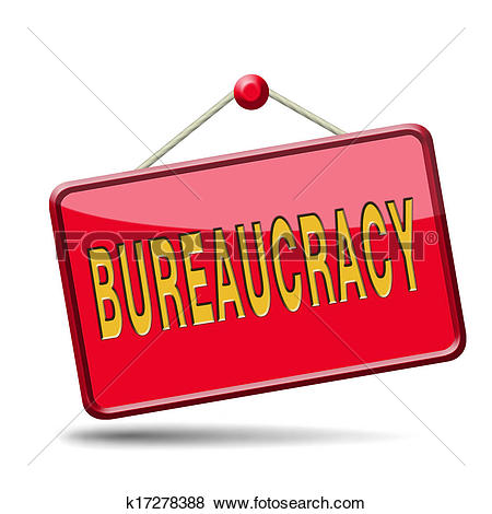 Drawing of bureaucracy k17564383.
