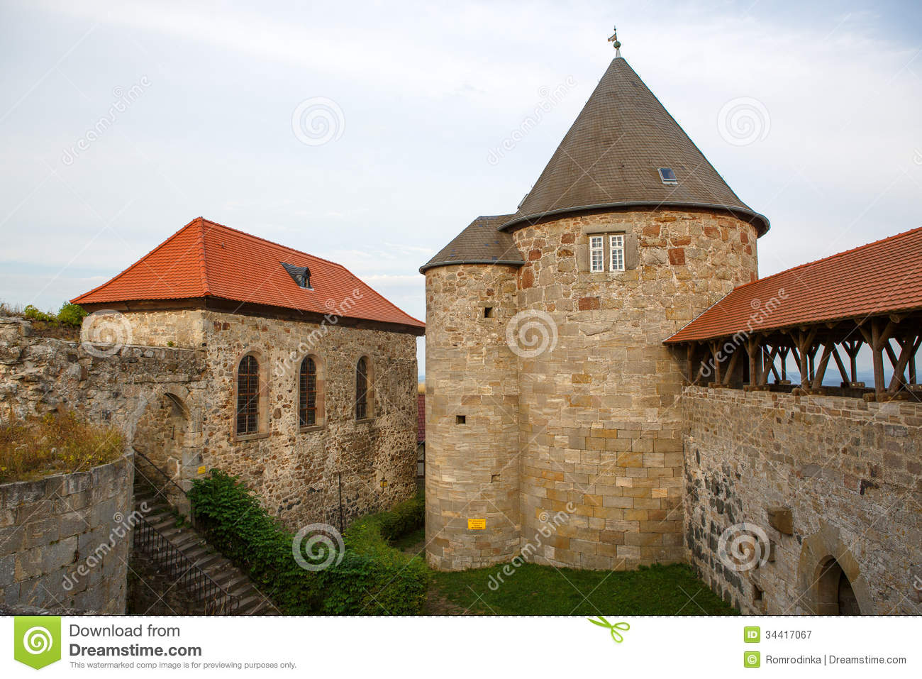 Castle Burg Herzberg, Germany, Hessen. Royalty Free Stock Images.