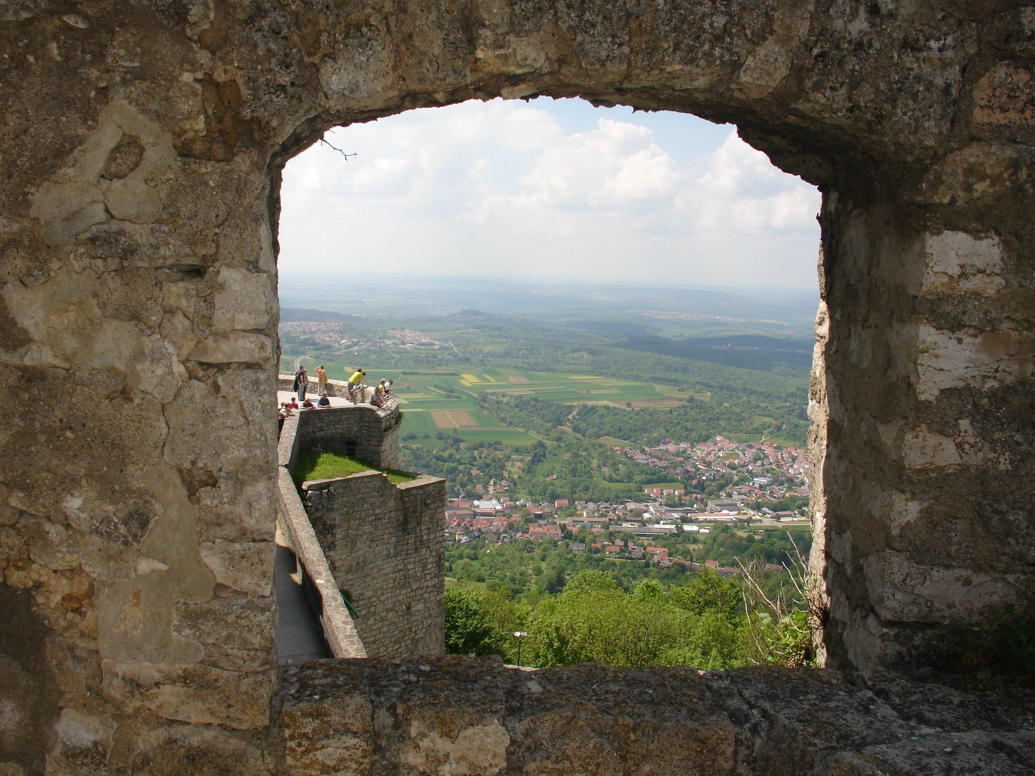 Die Burg Hohenneuffen in Baden.