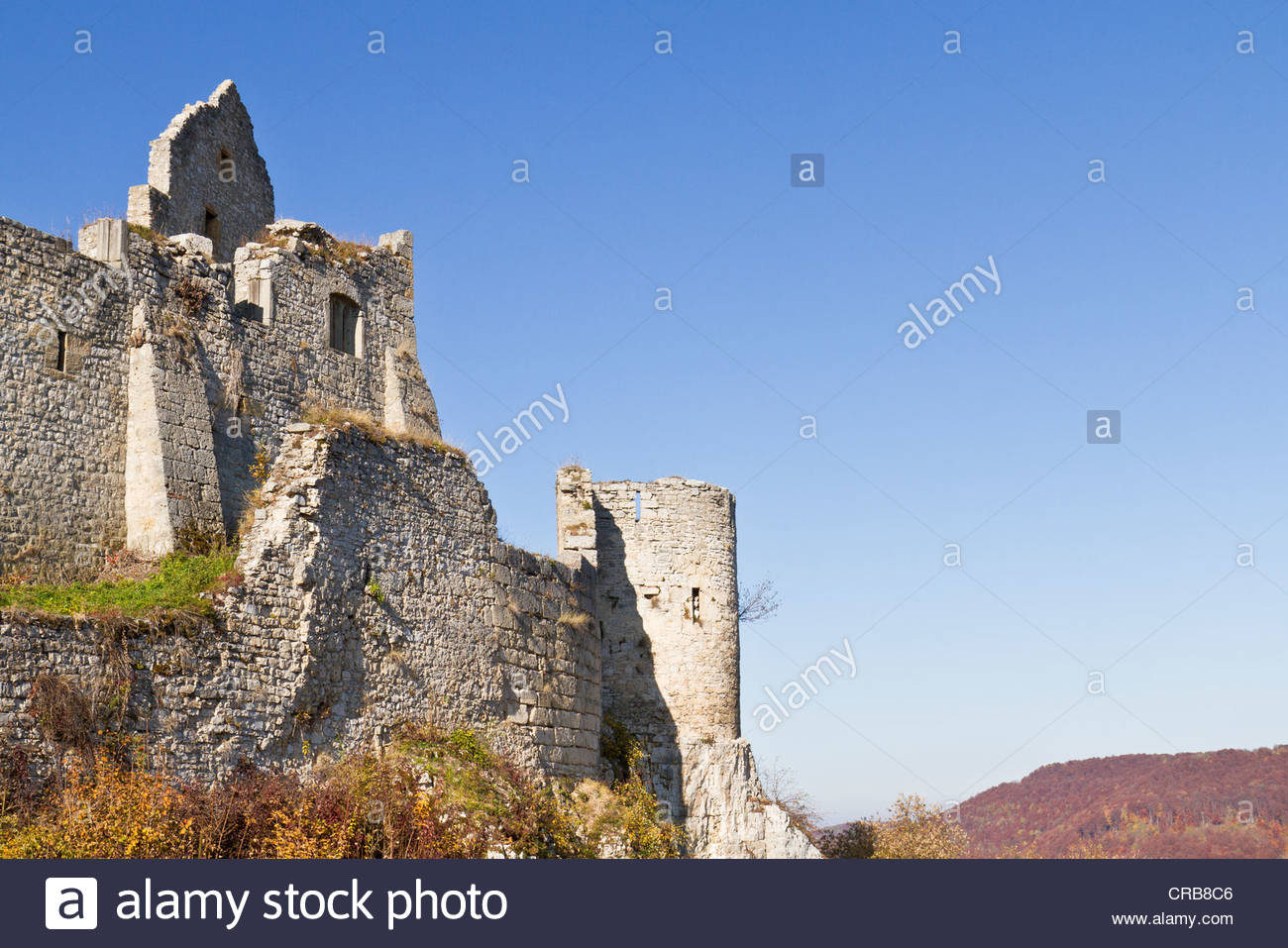 Burg Hohenurach Castle Ruins, Bad Urach, Swabian Alb, Reutlingen.
