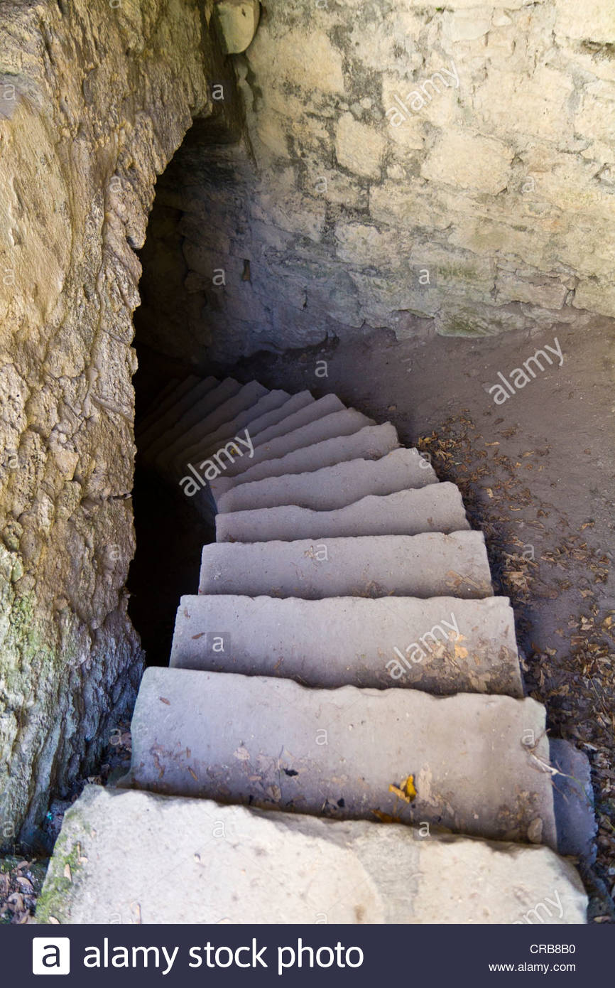 Staircase Leading To The Basement Of Burg Hohenurach Castle, Bad.