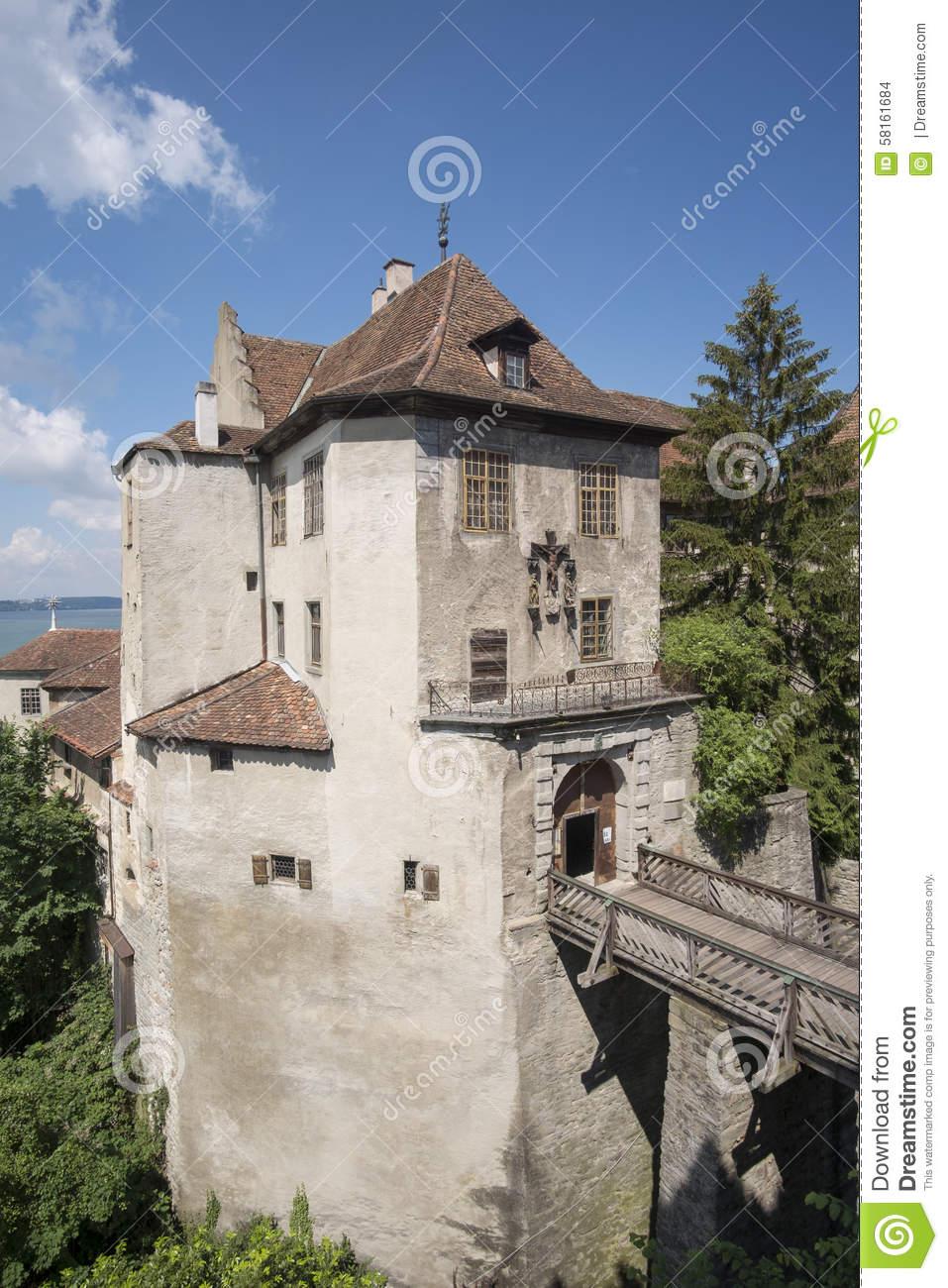 Meersburg Castle Stock Photo.