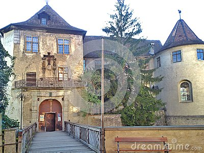Old Castle At Meersburg, Germany Stock Photo.