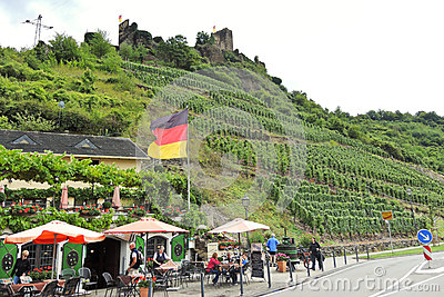 Beilstein Town And Metternich Castle, Germany Editorial Photo.