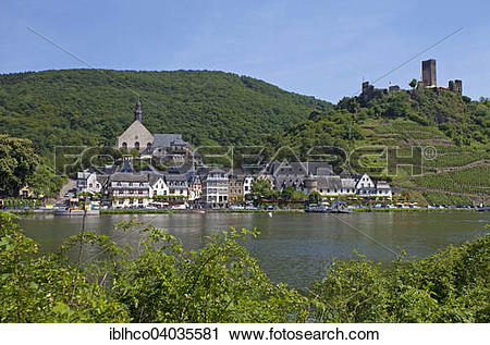 "Stock Photography of ""Townscape, Moselle, right Metternich."