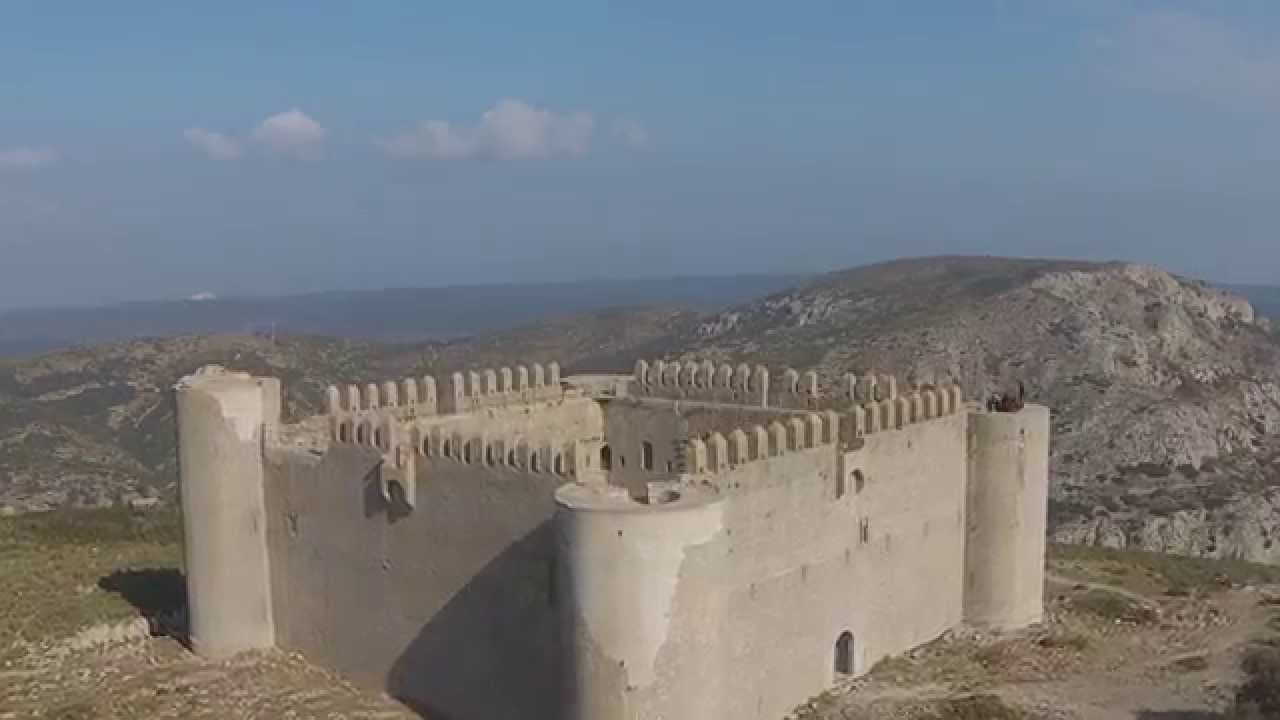 Castle Flight, Castell de Montgri, Catalunia, DJI Phantom Vision 2.